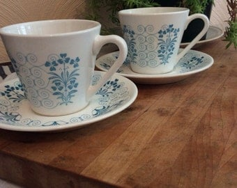 Syralite by Syracuse Teacups and Saucers