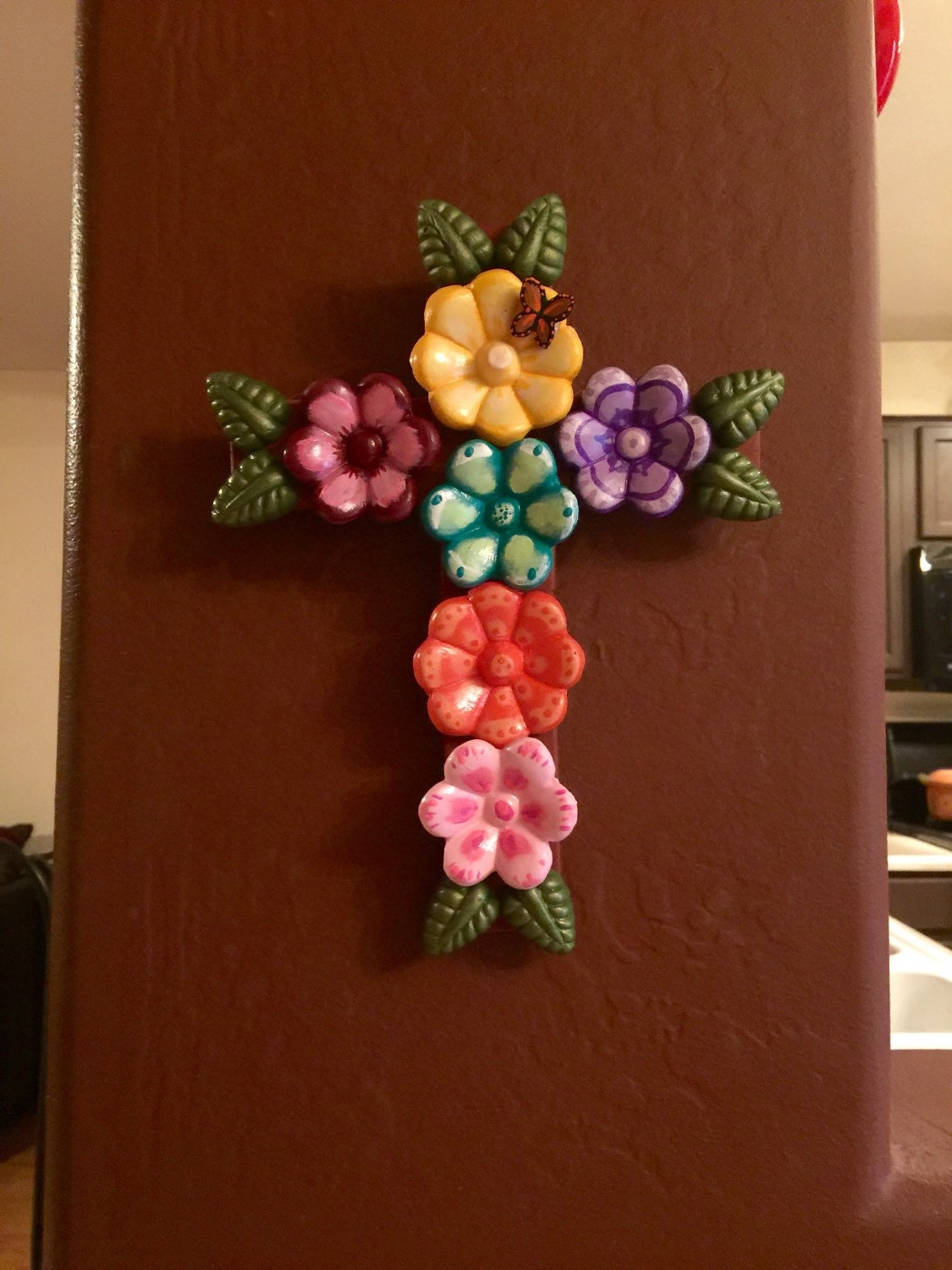Mexican Wall Hanging Decor : Handmade mexican folk art rustic cross decor and wall hanging