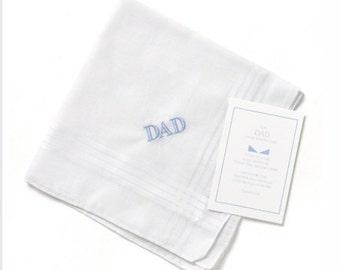 Embroidered Dad Hanky Wedding Handkerchief
