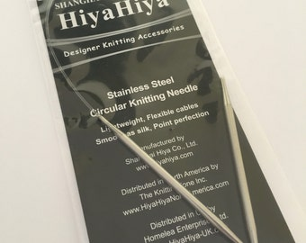 HiyaHiya Steel Fixed Circular Knitting Needles 16in/40cm x 4mm