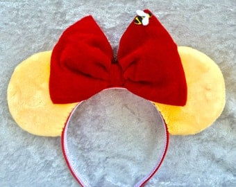 Winnie the Pooh themed mouse ears