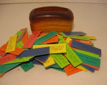 Vintage Our Daily Bread Promise Box and Cards Multi-Colored Religious Inspirational Cards