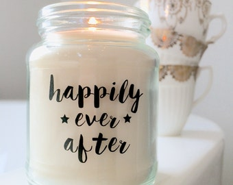 Handmade 'Happily Ever After' Soy candle