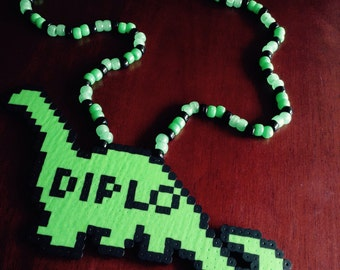 Diplo Dino Perler Kandi Necklace (multiple colors)