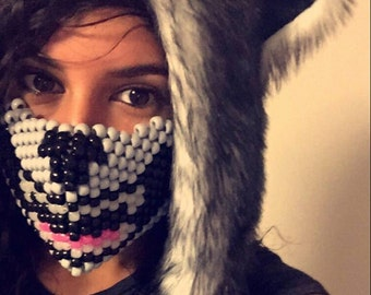Wolf Kandi Mask with Glow in the Dark Teeth