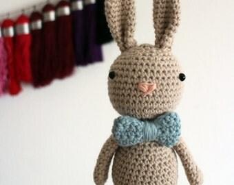 Organic cotton eco friendly crochet amigurumi bunny toy