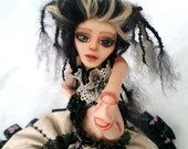 OOAK BJD Doll Gothic Magdalena has promotion price with her all clothes, special wood box and doll stand!