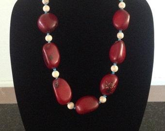 Bronwynn - Bright Red Statement Necklace