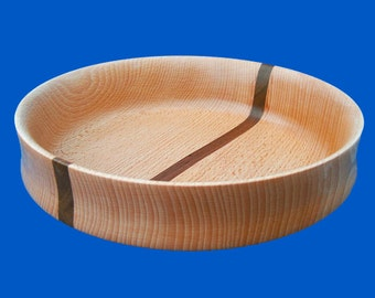 Beech with Walnut wood Bowl  - SALE ITEM - wooden bowl