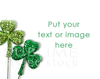 Styled Stock Photography / St. Patrick's Day / Green Clovers / Web Graphic / Social Media / Instagram / Staged Photo / StockStyle-670