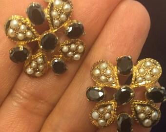 Flower Broach Earrings