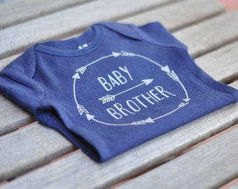 Baby Brother Blue Tribal bodysuit - Long Sleeves | Little Brother ~ Baby Bro Bodysuit
