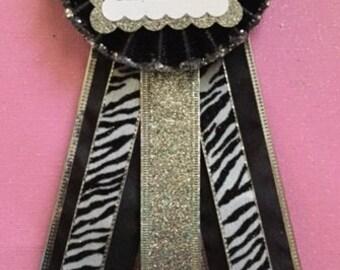 Bachelorette Tying The Knot Pin/Corsage..Bachelorette Party..Bride To Be..Bachelorette Party Corsage..Free Customization