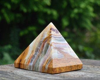 Large Banded Onyx Pyramid