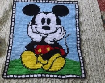 Mickey the Mouse crochet baby blanket