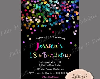 18Th Birthday Invitations gangcraftnet