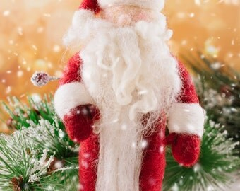 Needle Felted Santa Claus - Waldorf Inspired Santa