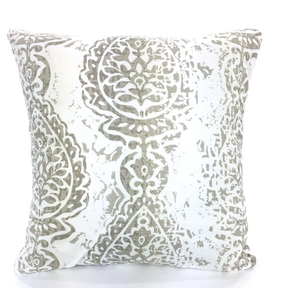 Throw Pillows For Taupe Couch : Taupe Ecru Decorative Throw Pillow Covers by PillowCushionCovers