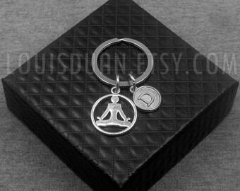 Chakra Key chain -Yoga Keychain -Initial Keychain -Your Choice of A to Z