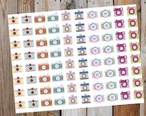 Camara Planner Stickers - Youtube Stickers - Erin Condren, LimeLife, Inkwell, Plum Paper, Filofax, Agenda