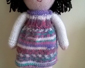 Hand knitted doll