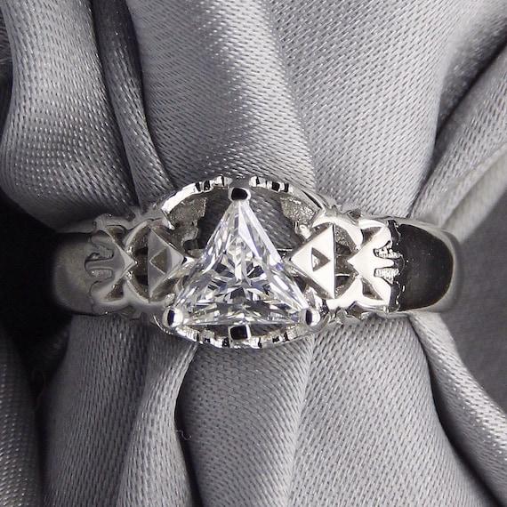 Legend of Zelda Triangle Stone Ring
