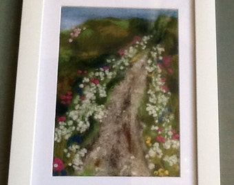 Needle felted picture