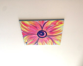 Flower Painting, Flower art, Colorful flower, Daisy Painting, Abstract Nature, Abstract  Flower, Nature Painting, Nature art, Gift for her