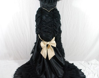 "FREE SHIPPING SALE Historical Bustle 1870 ""Shadow"" Original concept dress"