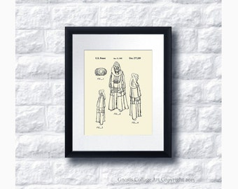 Star Wars Movie Character Bib Fortuna Patent Art Print Star Wars Sci-Fi Movie, Star Wars Home Decor,  Star Wars Print #20
