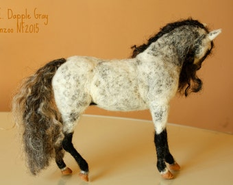 Needle Felted horse, Andalusian horse, needle felting stallion, equestrian gifts, made to order equestrian sculpture, grey horse