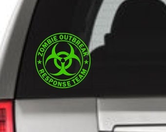 Zombie Response Team, Zombie Window Decal, Zombie Vinyl Sticker, Zombie Window Sticker, Zombie Outbreak Response Team, Zombie Outbreak,