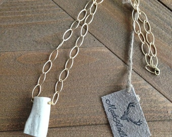 No Wire Antler Chunk Necklace