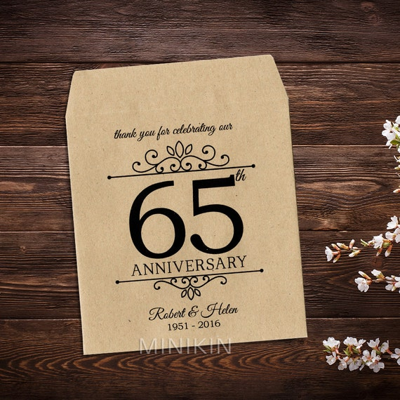 65 Wedding Anniversary Gift: 65th Anniversary Favors Anniversary Gifts Blue By MinikinGifts