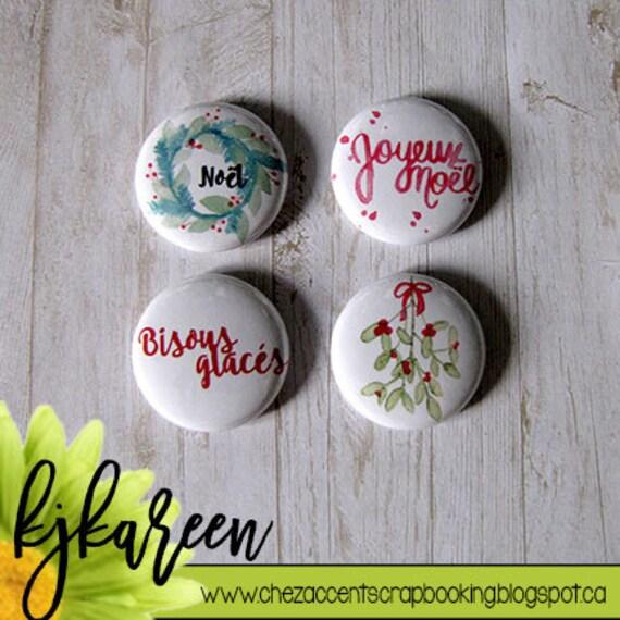 """Badge 1"""" - Bisous glacés"""
