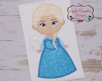 Frozen Elsa Applique Design, Machine Embroidery Design, Anna and Elsa, Frozen Embroidery, Frozen Birthday, Disney, Princess, 5x7, 6x10