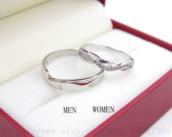 infinity platinum promise rings, infinity rings, his and her promise rings set, wedding rings, Valentine day