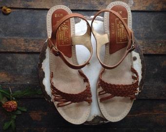 Vintage 1970s Wedge Sandals.