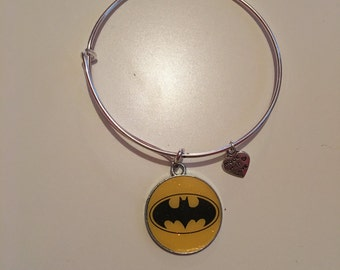 Batman Charm Bangle