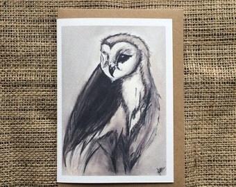 Barn Owl Card - 100% Recycled Card
