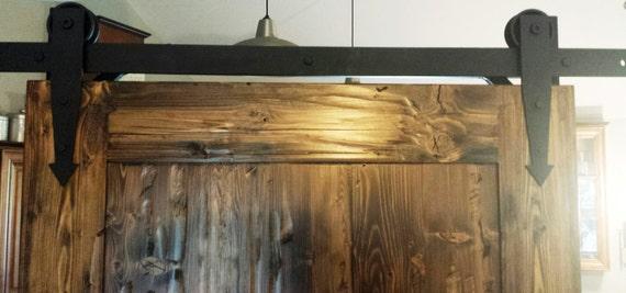 Arrow Roller Straps Sliding Barn Door Hardware By LAZYKWroughtIron