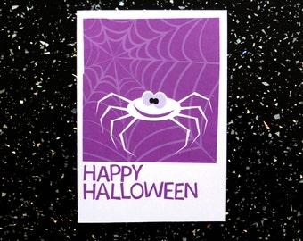 Halloween Card - Spider illustration - Happy Halloween