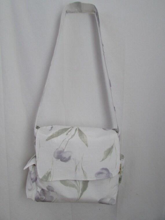 White Crossbody Diaper Bag