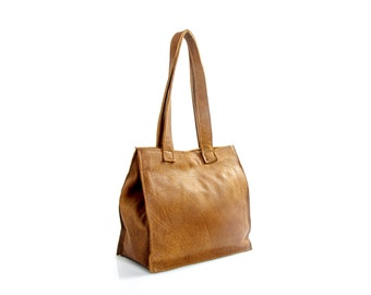 Brown Leather Bag, Handmade Leather Bag, Leather Bag for Women, Leather Purse, Handmade Purse, Brown Tote Bag, Gift for Her, Womens Purse