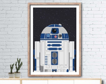 Printable Star Wars R2D2 poster - 60cmx90cm - boys room wall art - INSTANT DIGITAL DOWNLOAD