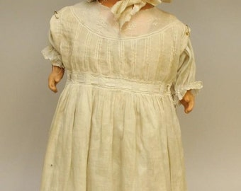 "24"" 1920's-30's AM CHARACTER Co. COMPOSITION Shoulder Head Doll"