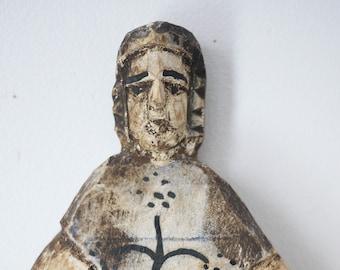 Hand-Carved Folk Art Figure