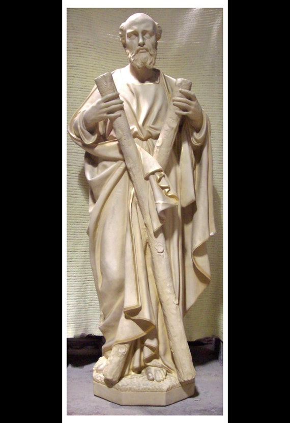 "St. Andrew the Apostle Fiberglass 60"" Catholic Christian Religious Statue"
