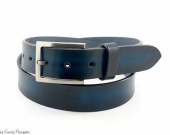 Leather Belt - Leather belt Men - High Quality Belt - Belt handmade - Large Belt