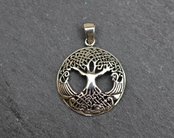 Celtic Knot Tree of Life Pendant -  Sterling Silver, Charm, Irish